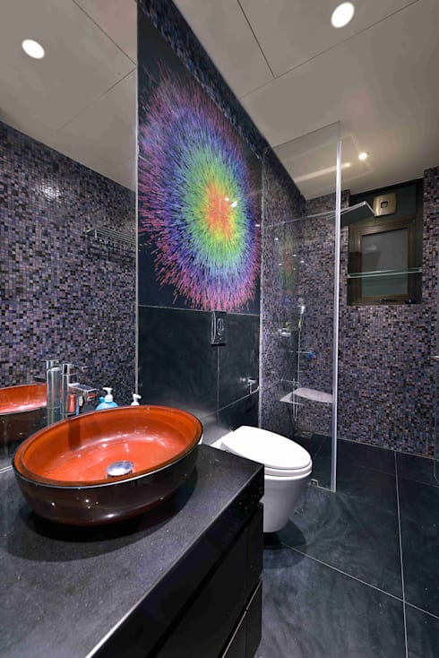 Madhuniketan 2: modern Bathroom by SM Studio