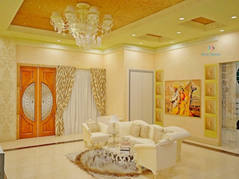 Independent Bungalow, JP Nagar - Mr.Raghu: classic Living room by DECOR DREAMS