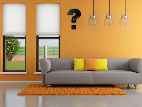 Progetti Question Time Wall Clock: modern Living room by Just For Clocks