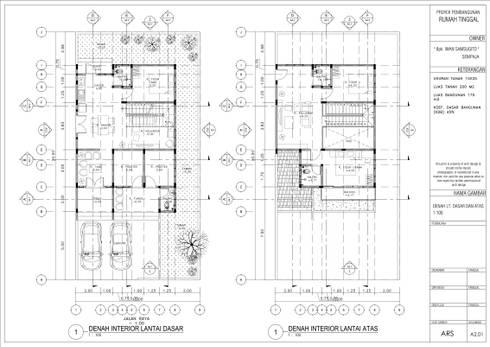 Denah Lantai Dasar dan Lantai Atas:   by Artisia Studio