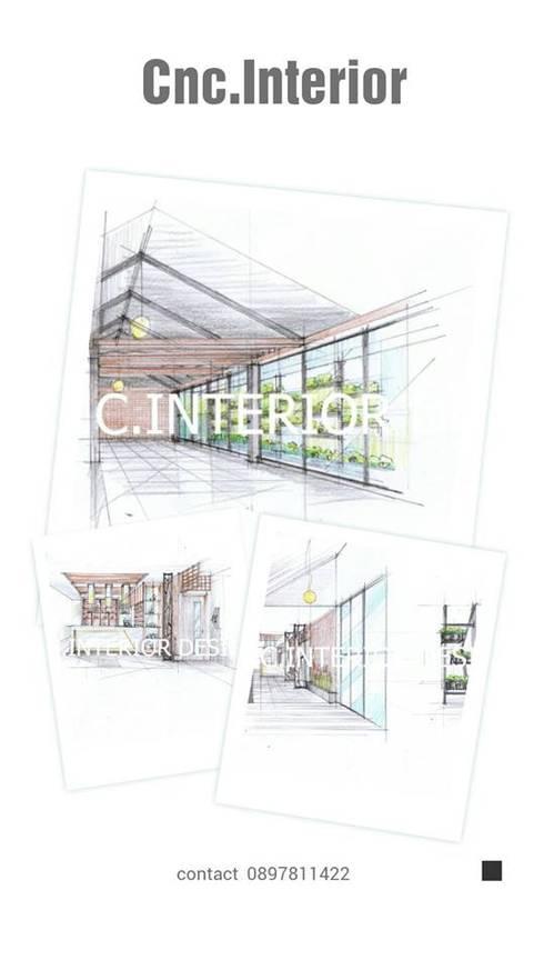 ร้านอาหารสไตล์โมเดิร์นลอฟท์หัวหิน:   by Cnc. Interior Design