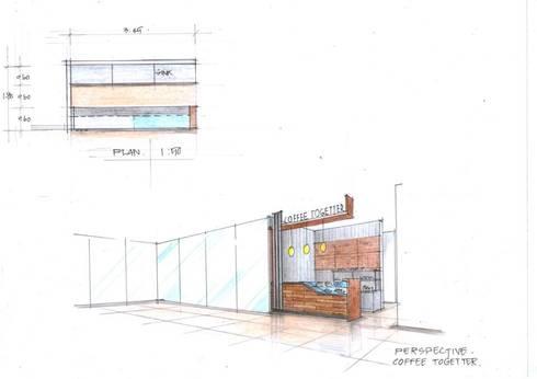 มุมกาแฟอาคารเล้าเป้งง้วน:  ตกแต่งภายใน by Cnc. Interior Design