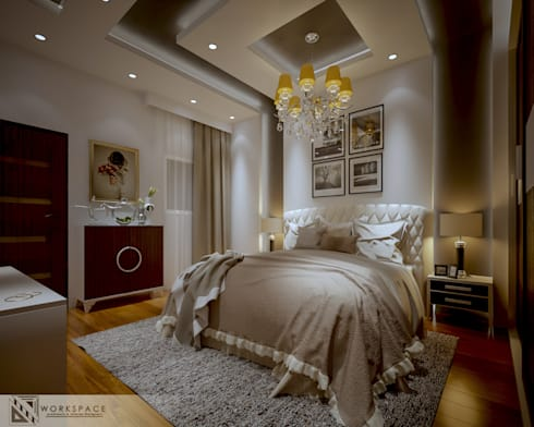 Fainted light | Modern Bedroom : modern Bedroom by WORKSPACE architects & interior designers
