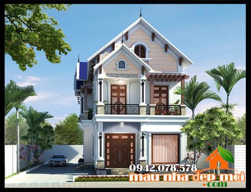 Phong cách kiến trúc giản dị khiêm tốn, nhẹ nhàng , khoáng đạt phù hợp phong tục tập quán dân tộc:  Biệt thự by Công ty TNHH TKXD Nhà Đẹp Mới
