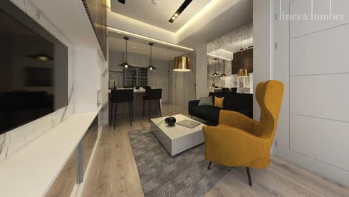 TV Area:  Ruang Keluarga by Lines & Lumber