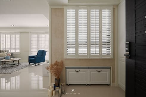 Sunny.Boudoir:  窗戶與門 by 理絲室內設計有限公司 Ris Interior Design Co., Ltd.