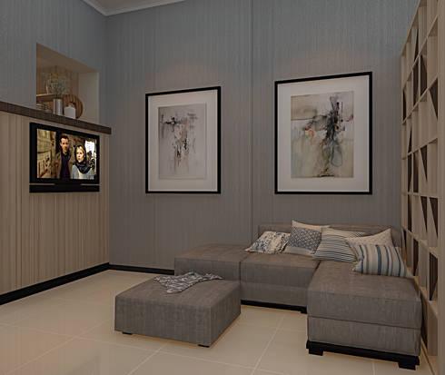 Livingroom:  Ruang Keluarga by Vinch Interior