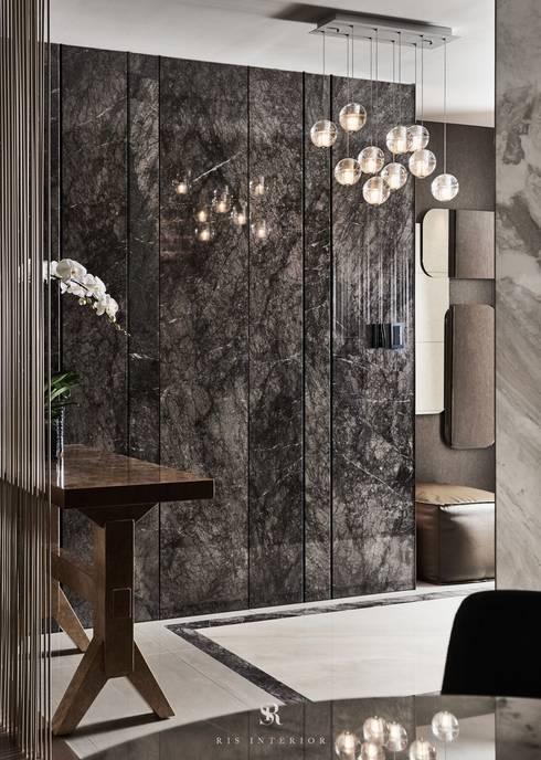 璀璨.脈脈|Van der Vein:  走廊 & 玄關 by 理絲室內設計有限公司 Ris Interior Design Co., Ltd.