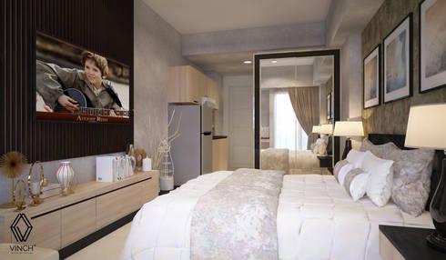 TV area:  Kamar Tidur by Vinch Interior