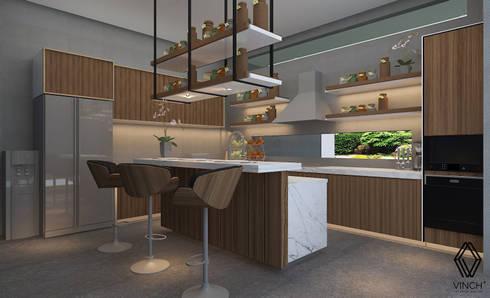 Kitchen Design :   by Vinch Interior