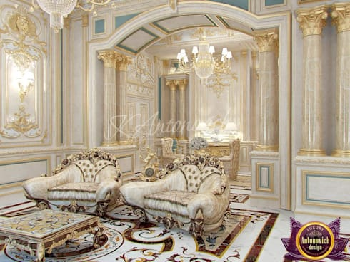 ​  Fashionable classics in interiors Katrina Antonovich: classic Living room by Luxury Antonovich Design