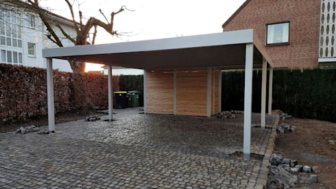 doppelcarport mit ger teraum von carport schmiede gmbh. Black Bedroom Furniture Sets. Home Design Ideas