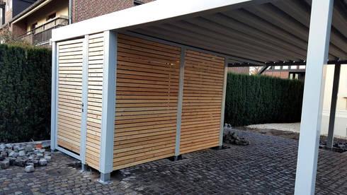 Doppelcarport mit Geräteraum von Carport-Schmiede GmbH + Co. KG | homify