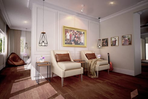 BED ROOM DESIGN:  ตกแต่งภายใน by NSign Studio