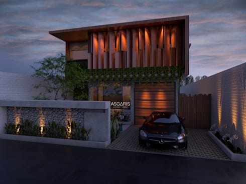 innovative and livable house:  Rumah tinggal  by ASGARIS studio