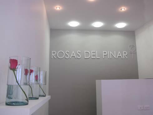 Interior e iluminación: Oficinas y Tiendas de estilo  por Obras Son Amores