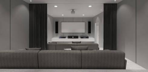 Pluit Residence:  Ruang Multimedia by KERA Design Studio
