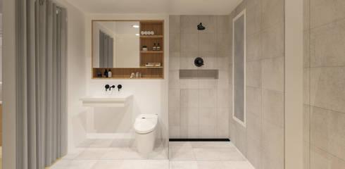 Pluit Residence:  Kamar Mandi by KERA Design Studio