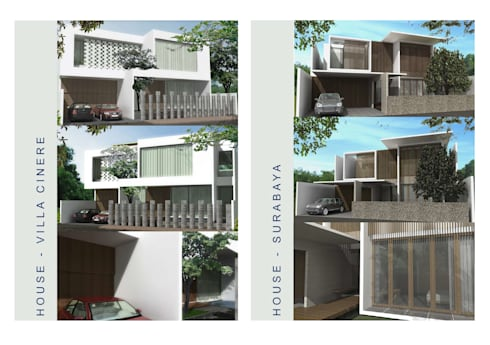 Minimalis House:   by Anantawikrama Studio
