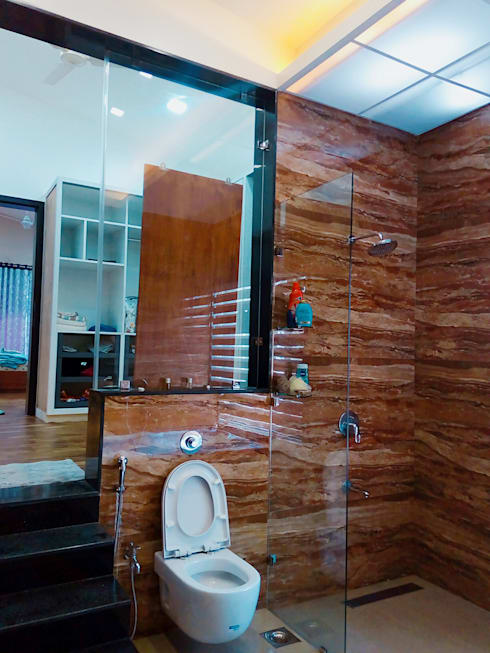 Bunglow at Warje, Pune:  Bathroom by Finch Architects