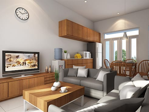 Grand Saturnus Residence:  Ruang Keluarga by Ashari Architect
