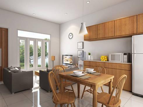 Grand Saturnus Residence:  Ruang Makan by Ashari Architect