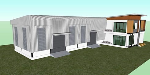 แบบโกดัง+สำนักงาน ของคุณสยาม กำลังจะก่อสร้างที่ นนทบุรี:   by เขียนแบบ ออกแบบ บ้าน อาคาร รายการคำนวณ