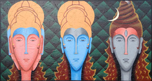 Tridev:  Artwork by Indian Art Ideas