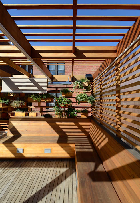 DC Roof Deck:  Patios & Decks by ARCHI-TEXTUAL, PLLC
