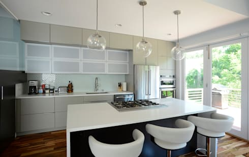 Brookland House Renovation/Addition: modern Kitchen by ARCHI-TEXTUAL, PLLC