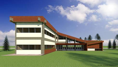 VU – 3 – VIVIENDA RESIDENCIAL UNIFAMILIAR: Casas unifamiliares de estilo  por RR Arquitecto