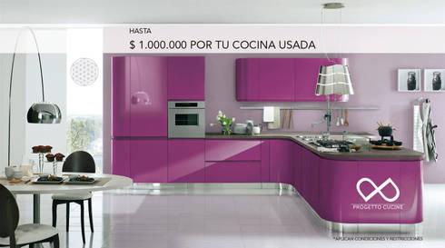 HASTA $ 1.000.000 POR TU COCINA USADA: Cocina de estilo  por Progetto Cucine