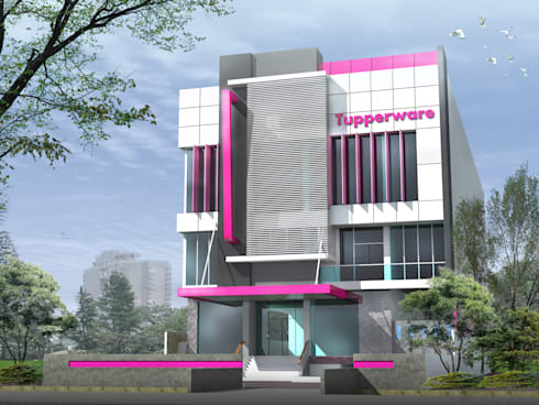 TUPPERWARE OFFICE & SHOWROOM - BANJARMASIN, KALIMANTAN SELATAN:  Gedung perkantoran by IMG ARCHITECTS