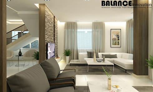 Reception & Living Room:   تنفيذ Balance Innovation
