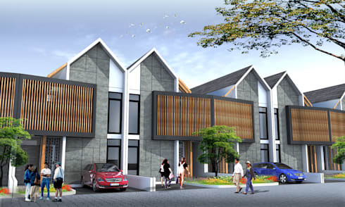 SPRINGHILL TOWNHOUSE - BANDUNG, JAWA BARAT:  Rumah by IMG ARCHITECTS
