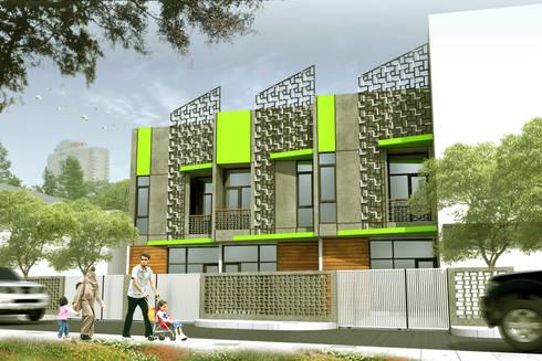 BUAH BATU TOWNHOUSE - BANDUNG, JAWA BARAT:  Rumah by IMG ARCHITECTS