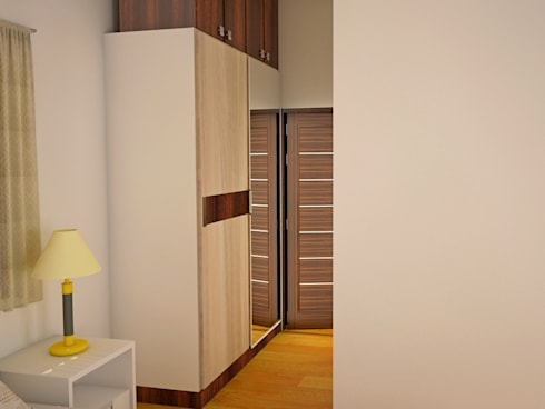 Independent Bungalow, RR Nagar - Mr. Mohan: modern Bedroom by DECOR DREAMS