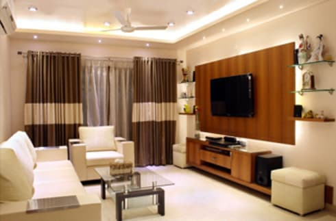 Best Interior Designers In Hyderabad: asian Living room by SCA Projects Pvt Ltd