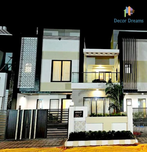 Independent Bungalow - Mr. Modi:  Houses by DECOR DREAMS