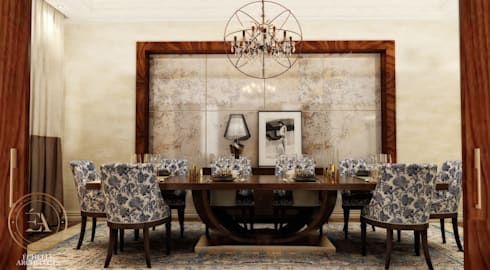 Dining Room:   تنفيذ Echelle Architects