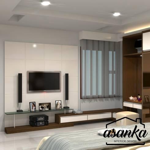 Master Bedroom: modern Bedroom by Asanka Interior