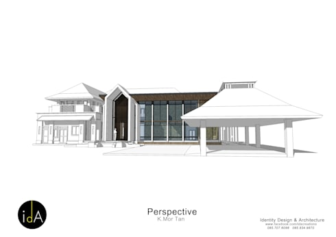 ต่อเติมบ้าน  คุณหมอตาล:  บ้านและที่อยู่อาศัย by Identity Design & Architecture Part.,Ltd