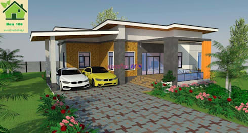แบบบ้านโมเดิร์น M02:   by หจก.Tratzone Property