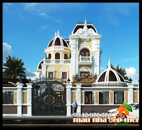 Phong thái kiến trúc uy nghiêm, trịnh trọng:  Biệt thự by Công ty TNHH TKXD Nhà Đẹp Mới