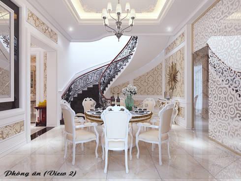 Biệt thự Trưng Nữ Vương – Đà Nẵng:  Hành lang by Công ty Kiến trúc Á Âu