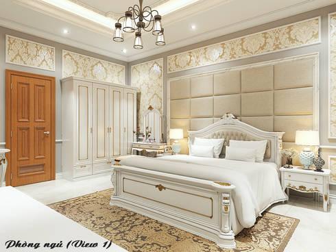 Biệt thự Trưng Nữ Vương – Đà Nẵng:  Phòng ngủ by Công ty Kiến trúc Á Âu