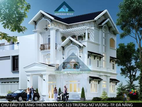 Biệt thự Trưng Nữ Vương – Đà Nẵng:  Nhà by Công ty Kiến trúc Á Âu