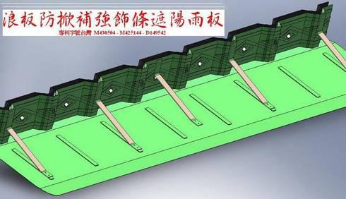 *浪板防掀補強飾條 遮陽雨架 :   by 鉅玹科技企業開發有限公司