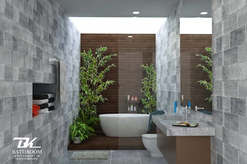 ห้องน้ำ:  ห้องน้ำ by BK Archstudio