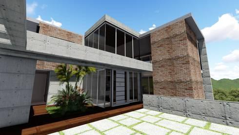 Casa Villa Nueva, El Hatillo. Caracas: Jardines de estilo moderno por Arquitectura Creativa